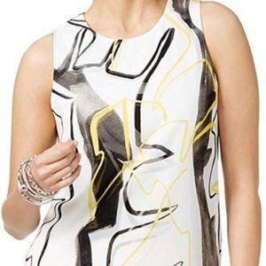 ALFANI Women's Abstract Sleeveless Tunic Shirt Top